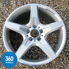 "1 x GENUINE MERCEDES 18"" SLK AMG 5 SPOKE R172 REAR 8.5J ALLOY WHEEL A1724012702"