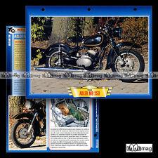 #044.07 Fiche Moto ADLER MB 250 1954-56 Motorrad / Classic Motorcycle Card
