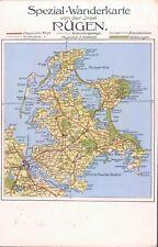 GERMANY Rügen map 1930 color PC
