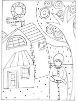 RUG HOOK CRAFT PAPER PATTERN Girl & Bird FOLK ART PRIMITIVE Karla Gerard