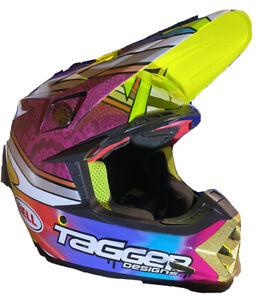 Bell Moto-9 w/MIPS Tagger Breakout Mens Motocross Off Road Dirt Bike Helmets