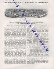 SCHÖPFURTH bei EBERSWALDE, Werbung 1911, Hubertusmühle mbH Holzimprägnierung