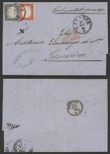 Italy 1861 - Cover Catania to Genova L627