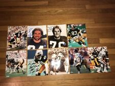 9 Pittsburgh Steelers Signed Autographed Photo Lot LC Greenwood To Dan