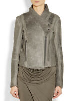 Helmut Lang Distressed Weathered Shearling Leather Jacket Coat Natural P XS