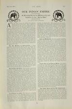 1903 Imprimé Indien Empire Bleu Marine & Armée Éditorial