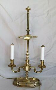 Kaiser Kuhn Brass Bouillotte Table Lamp NO SHADE Works Great.