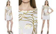 VERSACE Medusa Printed Cotton Jersey Dress in White size IT 1/UK 6 -10 RRP £160