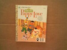 Little Golden Book SESAME STREET Puppy Love by Madeline Sunshine  1983 Hardcover