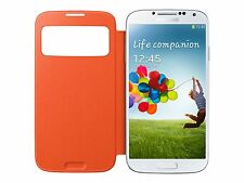 Genuine Samsung Galaxy S4 S View Cover Orange Ef-ci950boegww