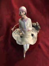 Antique Pincushion Doll W/ Legs Flapper Art Deco