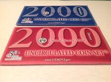 2000 Uncirculated 20 Coin US Mint Set, P & D, Original Packaging