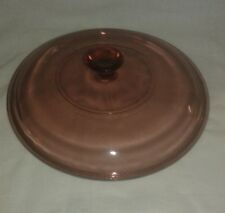 """Corning Pyrex """"Cranberry"""" 623 C Lid Only"""