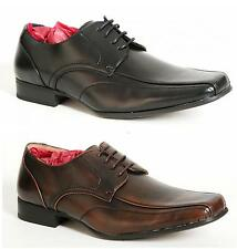 Mens Black or Brown Leather Lined Formal Lace Up Shoes Size UK 6 7 8 9 10 11 12