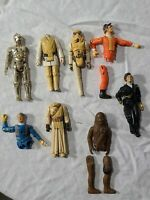 Vintage 1977 Star Wars Action Figure Lot for Parts or Customs. Chewy C3PO Darth