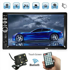7'' 1080P 2 DIN BLUETOOTH AUTORADIO MP5 MP3 TOUCH SCREEN FM USB+ AUTO TELECAMERA