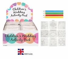 Kids WEDDING FAVOUR ACTIVITY PACK Birthday Party Bag Filler Loot Toy Gift New UK
