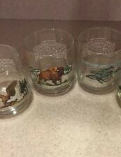 Lot Of 3 ENDANGERED SPECIES GLASS BALD EAGLE American Bison Humpback Whale