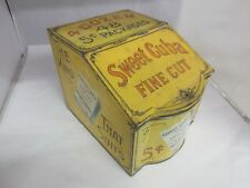 VINTAGE ADVERTISING SWEET CUBA STORE BIN COUNTER  TOBACCO CANISTER  TIN 510-M