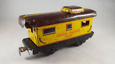 Marx O Train Vintage metal Union Pacific Brown and Yellow 3824 Caboose