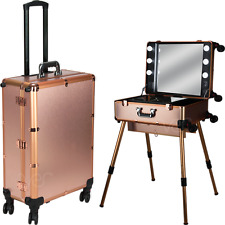 Rolling Studio Makeup Case with Light Pro Makeup Station by Ver Beauty-VL7301