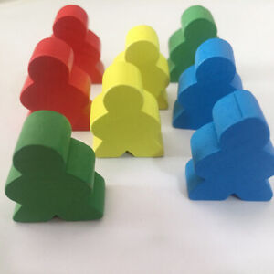 100pcs Chess Pieces Colored Wooden Humanoid Game Fashion Board Accessories Toy