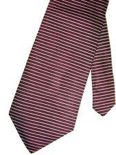 """Perry Ellis Men's Silk Neck Tie Hz Striped Burgundy 4"""" x 57"""""""