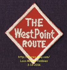 LMH Patch WEST POINT ROUTE Railroad  A&WP Atlanta WofA WESTERN RAILWAY ALABAMA b