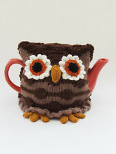 Twit-Twoo Owl Tea Cosy knitting pattern - Knit your own tea cosy TeaCosyFolk