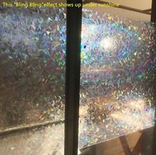 3D Decorative Window Film Clear Stained Glass Rainbow Static Cling Door Privacy