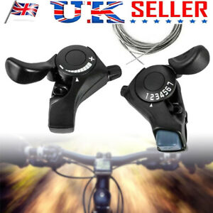 1 Pair of TX30 3x7 21 Speed MTB Mountain Bike Bicycle Thumb Gear Shift Lever Set