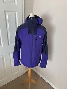 Men's Purple & Blue RAB Pertex Equilibrium Vapour Rise Guide Jacket Size Medium
