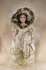 """Duck House Melodie Heirloom Porcelain Doll 18"""" With Box, Coa Plus Stand"""