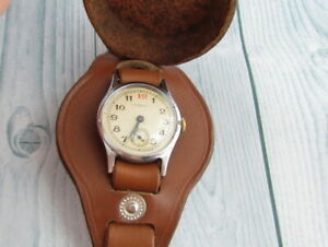 POBEDA 1 MChZ With Strap 1951 years Military USSR Vintage Mechanical Wristwatch