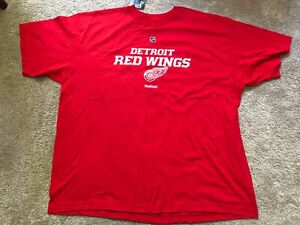 Reebok red Detroit Redwings short sleeve shirt, 2XL, NWT