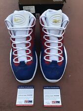 Reebok Question Mid Banner Limited Edition Mens 11.5 Allen Iverson Signed PSA