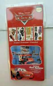 Disney PIXAR CARS Self Stick Appliques Resusable Easy Remove and Replace