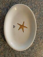 Rae Dunn Starfish Star Oval Plate Ocean Sea Life Dish Beach Collection Magenta