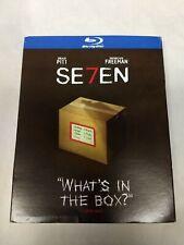 "Se7en ""Seven� Stars Brad Pitt Morgan Freeman Blu-Ray Disc W/Slipcover Sealed New"