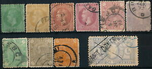 ROMANIA, CLASSIC UNCHECKED NICE LOT OF 10 DIFF. USED STAMPS. #A684