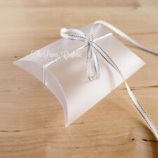 20 x CLEAR FROSTED MATTE PILLOW BOXES Lolly Favours Wedding Baby Shower