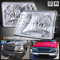 Fit 1998-2000 Ford Ranger Crystal Clear LED Headlights 98-00 Left+RIght