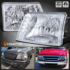 1998-2000 Ford Ranger Crystal Clear LED Headlights 98-00 Left+RIght