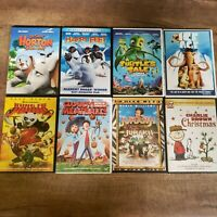 Kids DVD Lot of 8 - Ice Age Jumanji Happy Feet Kung Fu Panda Cloudy w/Meatballs