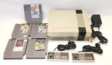Nintendo Entertainment System (NES) NES-001 Bundle w/ 2 Controllers and 5 Games