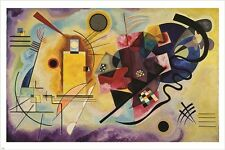 wassily kandinsky YELLOW RED BLUE vintage painting art poster MODERN 24X36