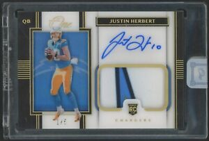 2020 Panini One Justin Herbert RPA RC Rookie 3-Color Patch AUTO 1/5 Chargers