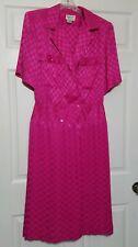 Argenti Boutique Vintage Classy Dress ~ Sz 10 ~ Pink ~ Short Sleeve ~ Long