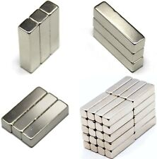 N42 Neodymium Magnets RECTANGULAR BARS BLOCKS ~ 15mm, 20mm, 35mm, 50mm long
