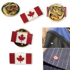 Vintage Mini Canada Flag Maple Leaf  Pin Badge Tie / Hat Pin (Buy 5 get 1 FREE)